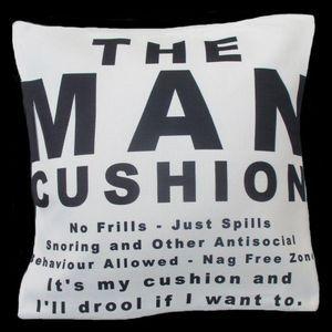 Wholesale Cushions NZ by Chelsea DesignNZ. Man Cushion - 45cmx45cm #throw pillows.