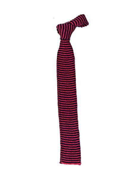 Tie | Navy Pink Cotton