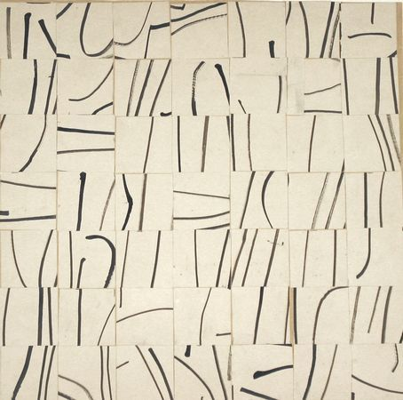 ellsworth kelly - brushstrokes-cut-into-49-squares-and-arranged-by-chance-moma-1951