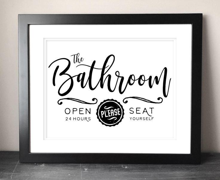 Farmhouse Bathroom Sign Printable, Funny Bathroom ...