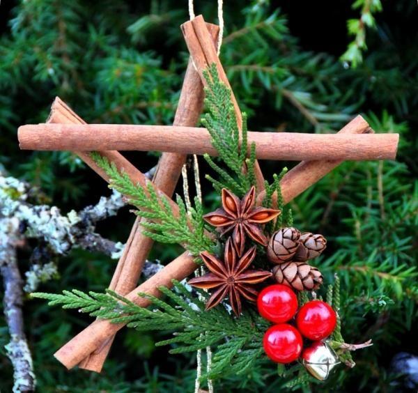 Outdoor Weihnachtsdeko-Holz Stangen-Stern bauen