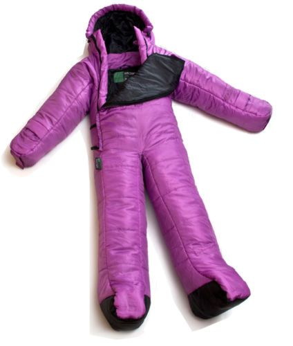 Selk Bag Kids Children Small Body Nighty Wear Sleeping Bag Purple 53.9~59.8""