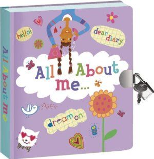 "All About Me Lock & Key Diary by Peaceable Kingdom Press. $10.01. Printed with vegetable based inks on recycled papers. Safely keep these precious remembrances under lock and key. Write or draw on the 240 colorful lined pages. For ages 5 years and older. Keep thoughts, wishes and secrets recorded to always be remembered. A Secret Diary-to dream, to write, to imagine. Lock & Key Diaries. 5 1/2"" x 6 1/2"" perfect-bound diary with 240 pages, padlock and 2 keys, packaged in a cle..."