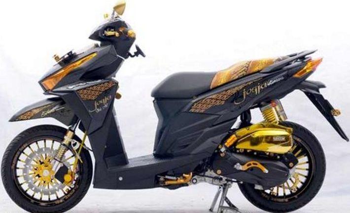 Modifikasi Honda Vario 150 ESP Sticker Simple