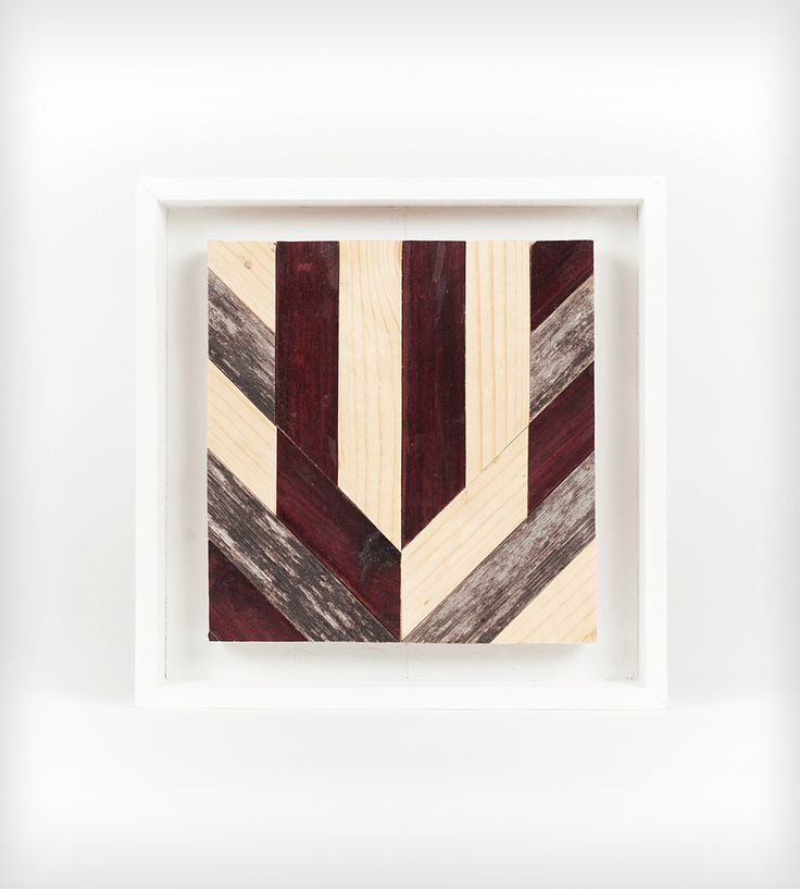 Chevron Wood Wall Art - Square   Goodhand Woodworks
