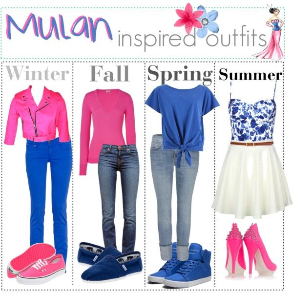 """""""Mulan inspired outfits :)"""" by shannonstyles on Polyvore"""