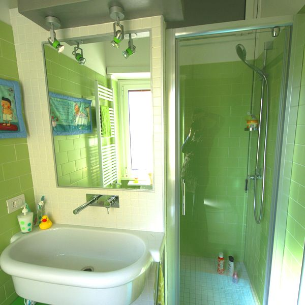 Il bagno verde dei miei bimbi! Ecco cosa succede ad avere una mamma architetto!