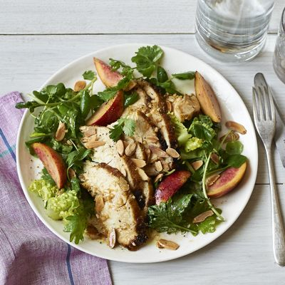 Elements of a perfect summertime salad? Protein (check!), fresh fruit ...