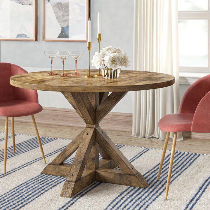 Leonila Cross Buck Base Dining Table Reviews Joss Main Dining Table In Kitchen Dining Table Trestle Dining Tables