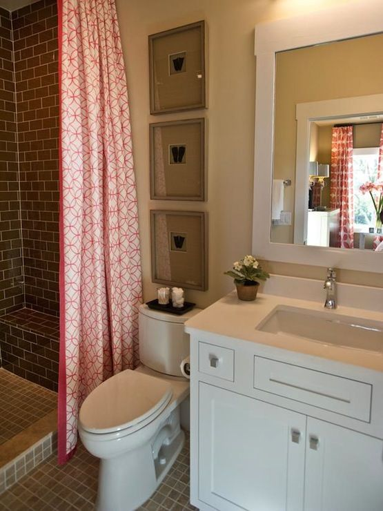 Mosaic turquoise tile contemporary bathroom sherwin for Small guest bathroom ideas