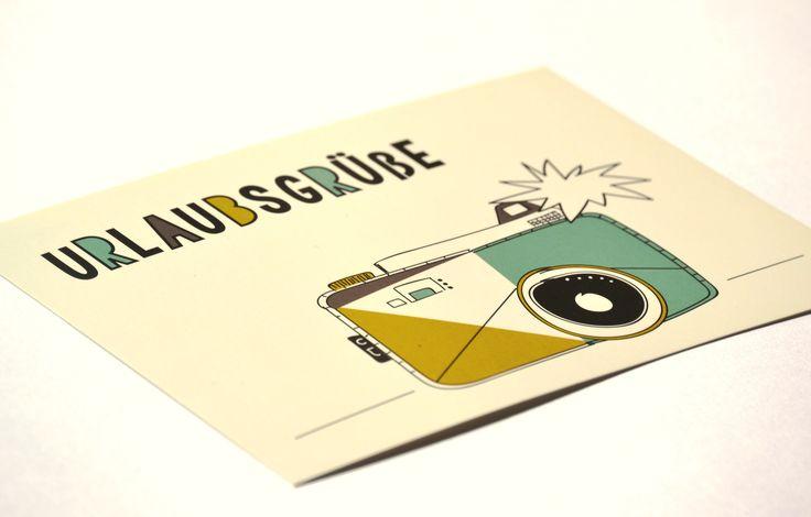 Du bist im Urlaub und möchtest jemandem einen Gruß schicken? Dann pack diese Karte ein und überrasche mit einem besonderen Stück aus dem Briefkasten.