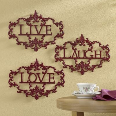 Generous Live Laugh Love Metal Wall Decor Pictures Inspiration ...