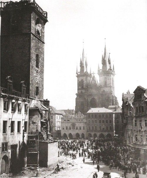 March with Old Market Square: Prague in May 1945 by J.Voříšek