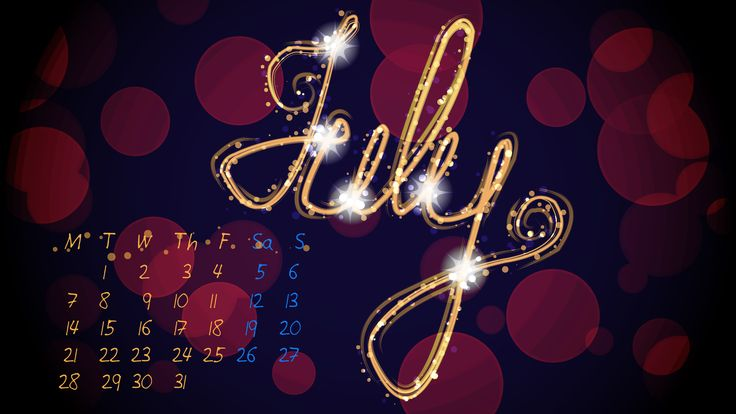 July Wallpaper for 2014 with  without Calendar