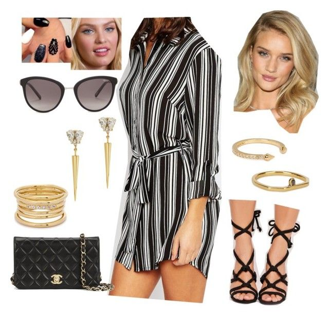 """""""Bez tytułu #16982"""" by sophies18 ❤ liked on Polyvore featuring New Look, Missguided, Chanel, Chopard, Anton Heunis, Vita Fede, Maya Magal and Elizabeth and James"""