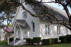 This little white chapel has been donated to the Beaches Museum in Jacksonville Beach. It will be perfect for small weddings.
