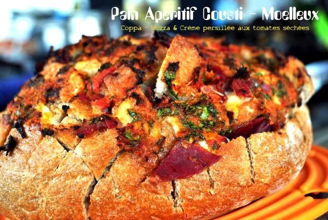 Pain crousti-moelleux, coppa, mozza & beurre persillé aux tomates séchées ~ Cooking N'Co http://cookingnco.com/?p=713