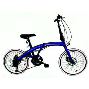 Bicicleta Dobrável Aro 20 Freio Disco 7 Velo Sh...