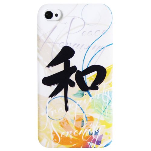 Exian iPhone 4/4S Harmony Hard Shell Case (4G148) - White                         - Web Only