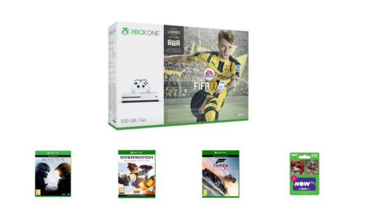Xbox One S FIFA 17 Bundle With Three Games and Now TV for Under 220