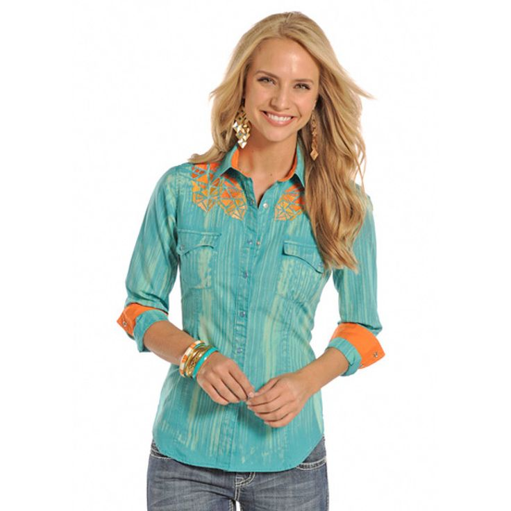 Rock and Roll Denim Morning Glory - Juniors Western Shirt