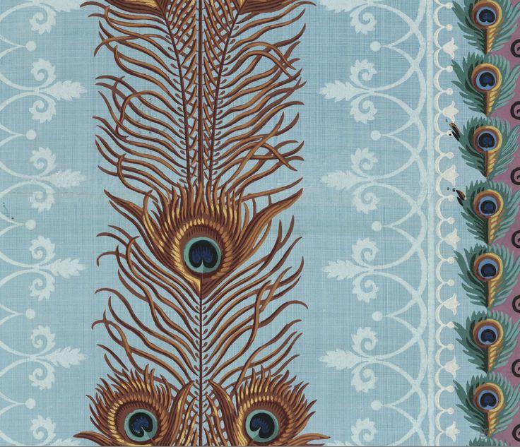 17 best images about vintage pattern on pinterest stirling persian and fab - Papier peint motif paris ...