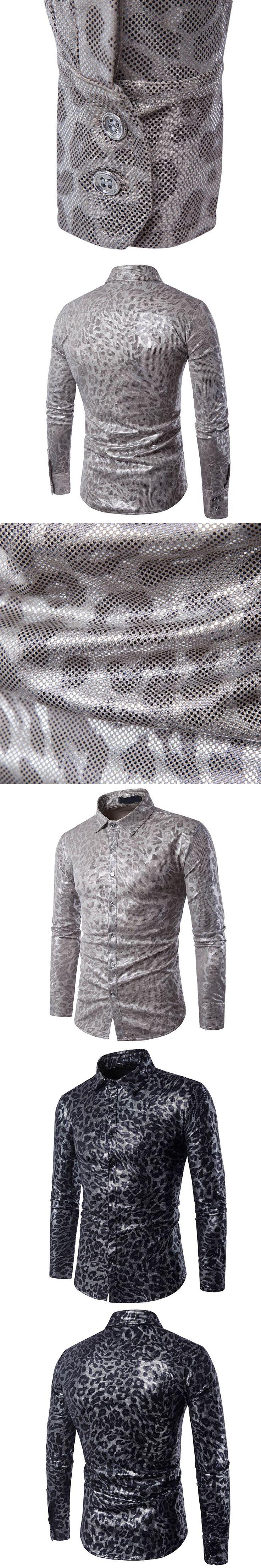 Fashion 2017 fashion casual snake design shirt men Breathable mesh long sleeves city camisa social masculina night club shirt