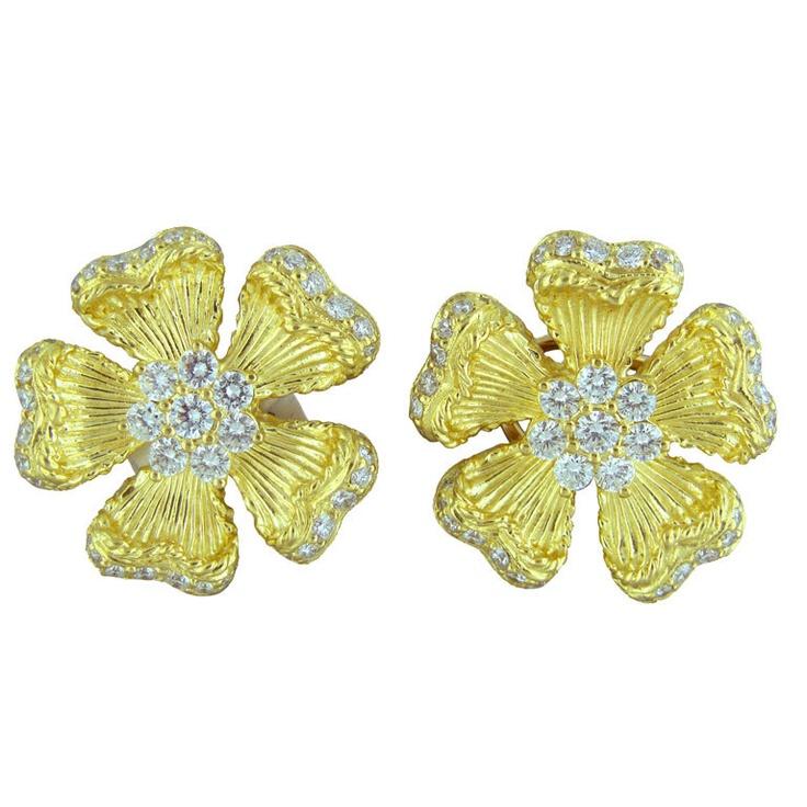 40 best Gold Flower Earrings images on Pinterest | Flower earrings ...