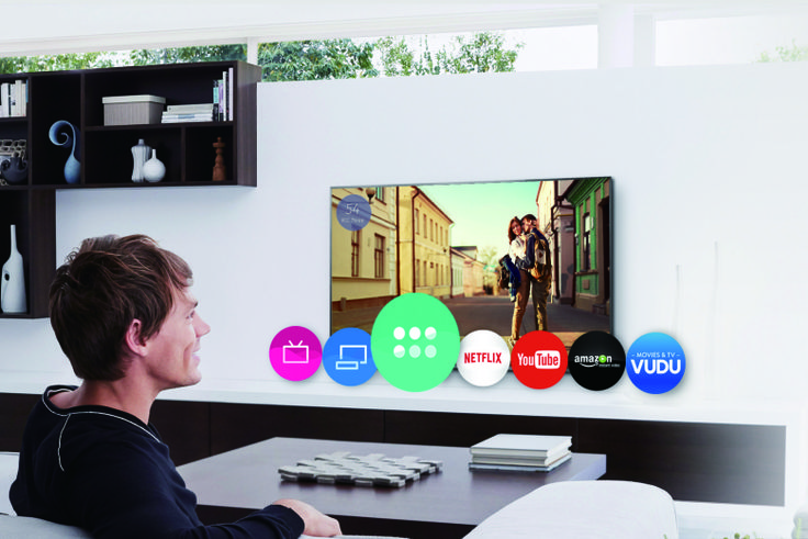 A promo graphic for Firefox OS' new TV interface