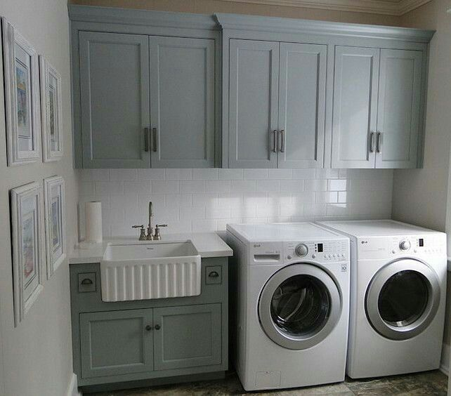 Laundry or bath cabinet colore