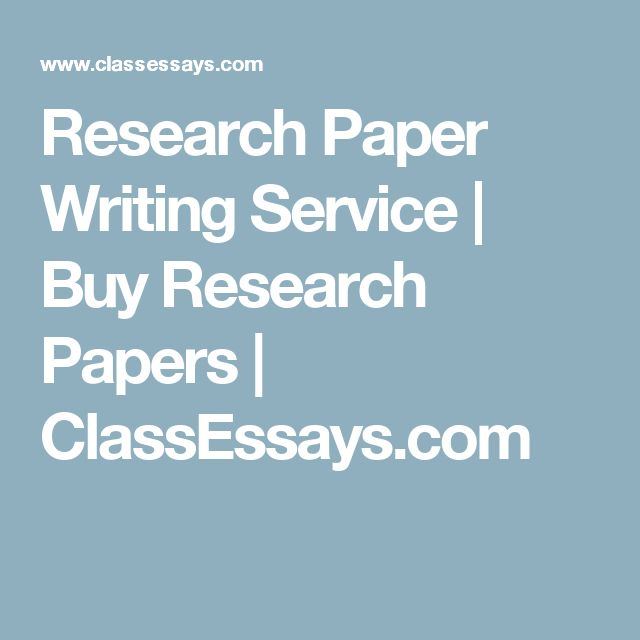 Research Paper Writing Service | Buy Research Papers | ClassEssays.com