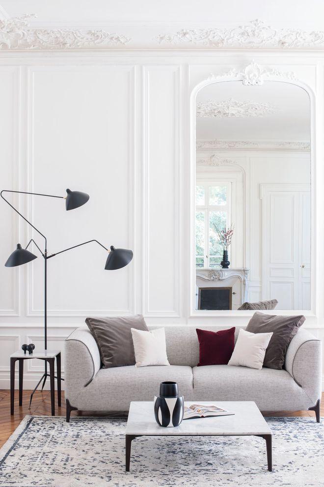 Le burov alain damais canapé design canapé fabriqué en france made in france meuble emmanuel gallina appartement chic parisien montaigne design moulure