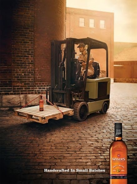 This ad breakthroughs the barrier because it shows how fine this whiskey is considering there is only one on the forklift. Target is alcohol consumers. It is persuasive because if there is only small batches it must be a really fine whiskey that everyone wants to try.