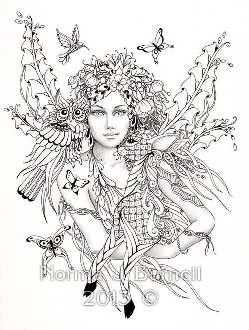 Adult Fairy Coloring Pages 36