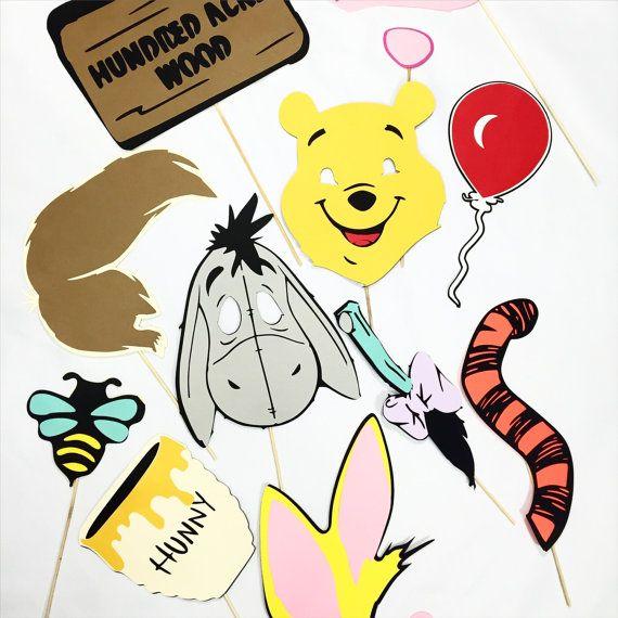 Winnie the Pooh photobooth props van LeStudioRose op Etsy