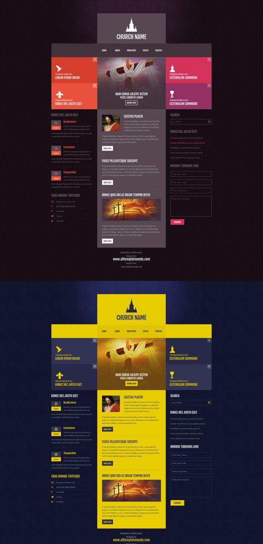 Free Religious template from www.alltemplateneeds.com by Shaik Mohammad Rafi, via Behance #web #ui