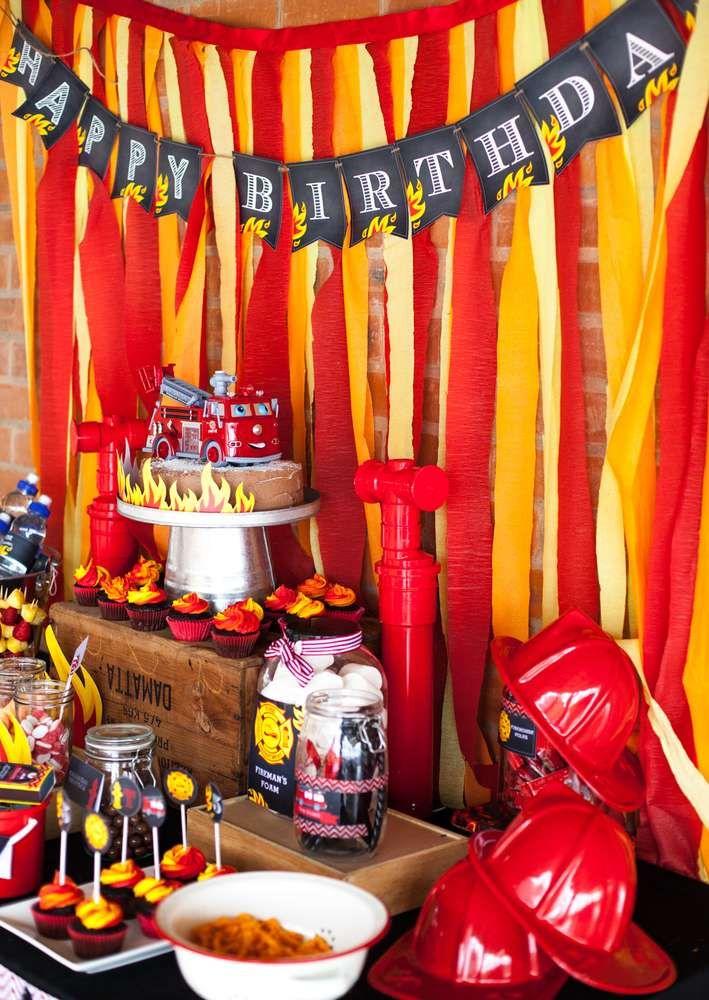 Thomas's Fireman Birthday Party | CatchMyParty.com