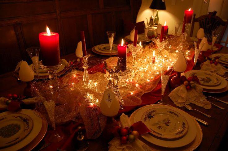 Navidad y vacaciones Tablescapes ajustes de la tabla