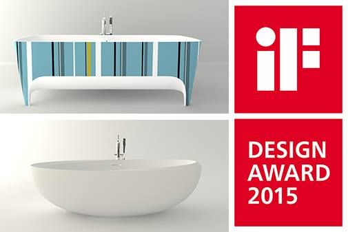 Delighted to announce that our #bathtubs: Pop Academia Limited Edition and I BordI (Carlo Colombo design ) have been awarded the prestigious #IFDesignAward 2015