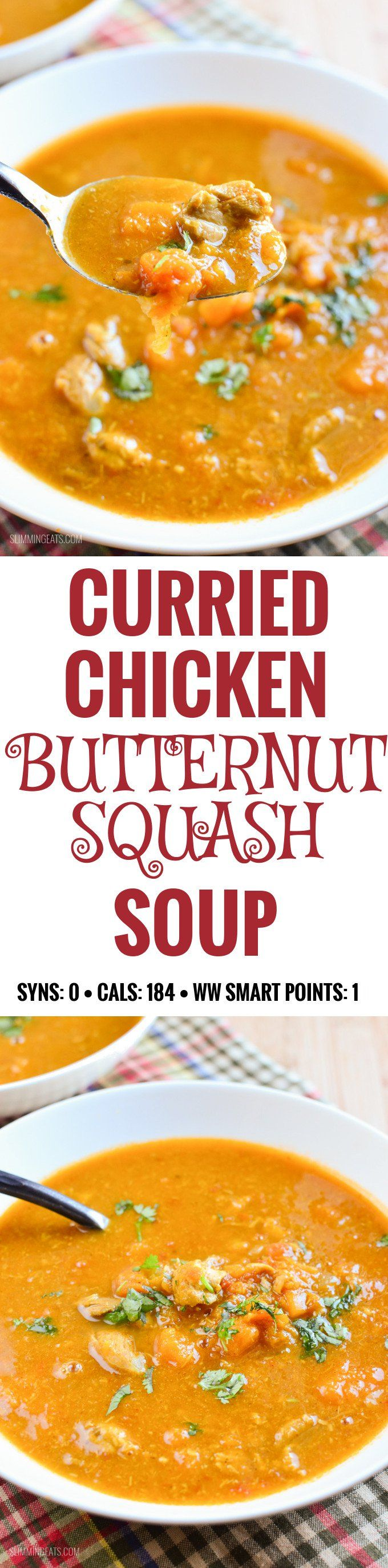 Slimming Eats Curried Chicken and Lentil Soup - gluten free, dairy free, paleo, whole30, Slimming World and Weight Watchers friendly