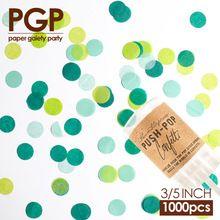 Pgp groene cirkel tissue papier confetti, voor kinderen verjaardag st. Patrick's day kinderdagverblijf baby shower turtles festival partij(China (Mainland))