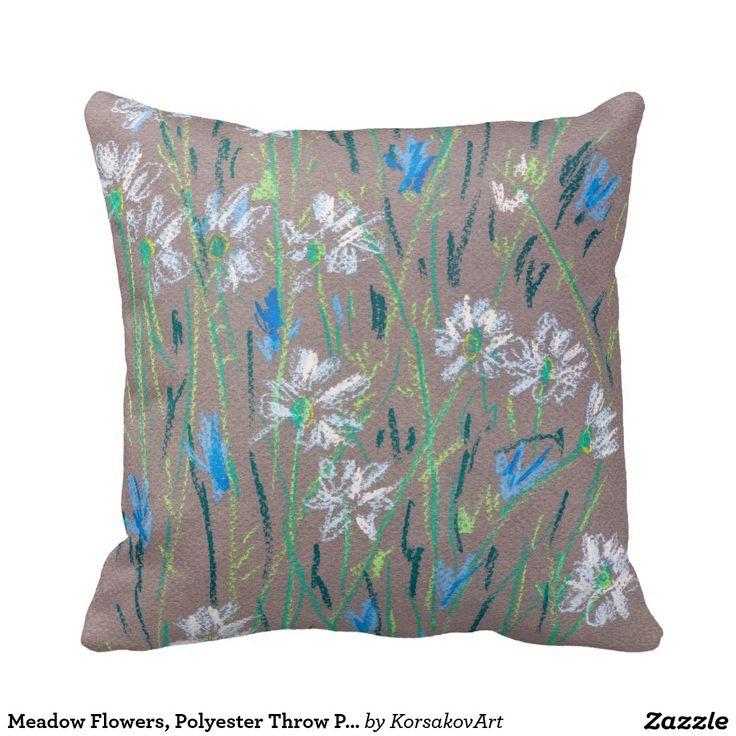 Meadow Flowers Pillow    #home #decor #decoration #pillows #camomile #cornflower #cozy #nature #garden