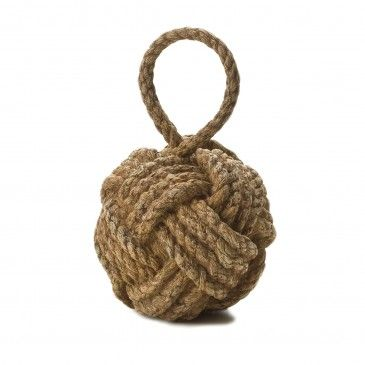 ROPE KNOT DOOR STOP  - NATURAL Morgan & Finch