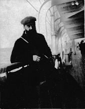 Theodor Herzl - Herzl on board a vessel reaching the shores of Palestine, 1898 - Wikipedia, the free encyclopedia