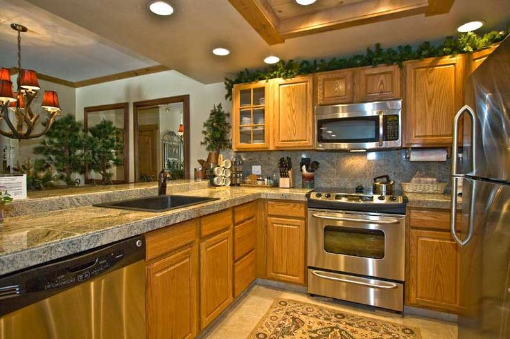 floor that match oak cabinets | kitchen oak cabinets for kitchen renovation  | Kitchen Design Ideas at ... | Living Rooms / Dining Rooms / Kitchens ...