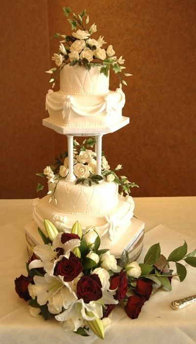 4 tier wedding cake with pillars 86 best pillar wedding cakes images on 10423