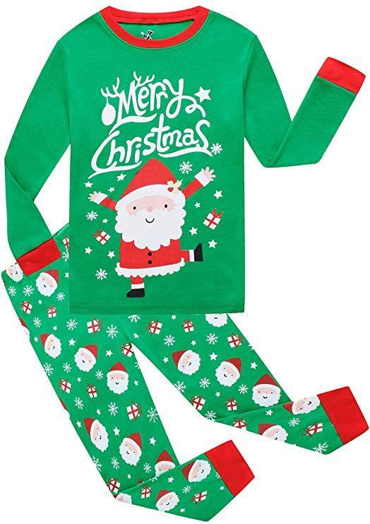26cfb02fa7 Little Boys Girls Christmas Cotton Pajamas Children Santa Claus PJS Gift  Set Kids Sleepwear Clothes 5t