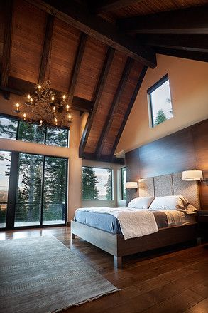 master bedroom..love this but again the beams would stay dark with a cream color cealing like the kitchen!