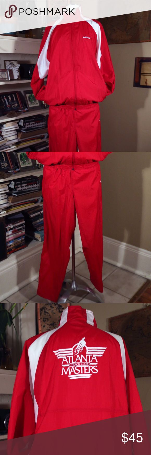*VINTAGE* UNISEX ATLANTA TRACK MASTERS TRACK SUIT Authentic 1990's RED ATLANTA TRACK MASTERS TRACK SUIT - matching pants and jacket! LIKE BRAND NEW -- TRUE TO SIZE. 100% NYLON. Hind Pants Track Pants & Joggers