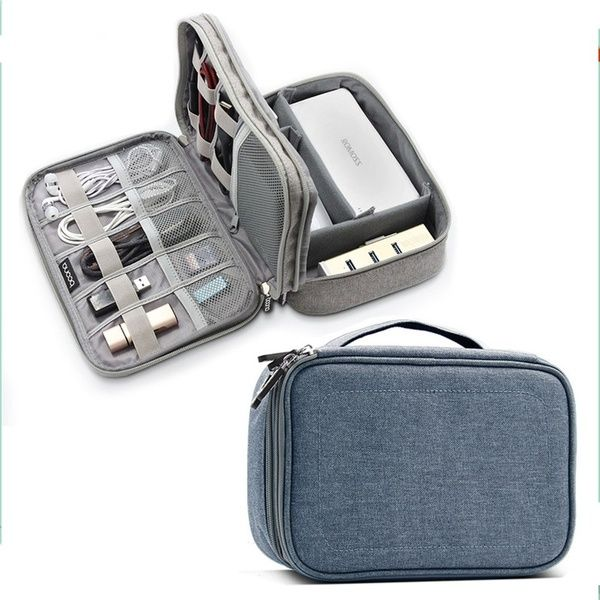 Electronic Digital Storage Bag USB Cable Charger Earphone Pouch Organizer Case